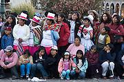 "The crowd watches the procession. Inti Raymi ""Festival of the Sun"", Plaza de Armas, Cusco, Peru."