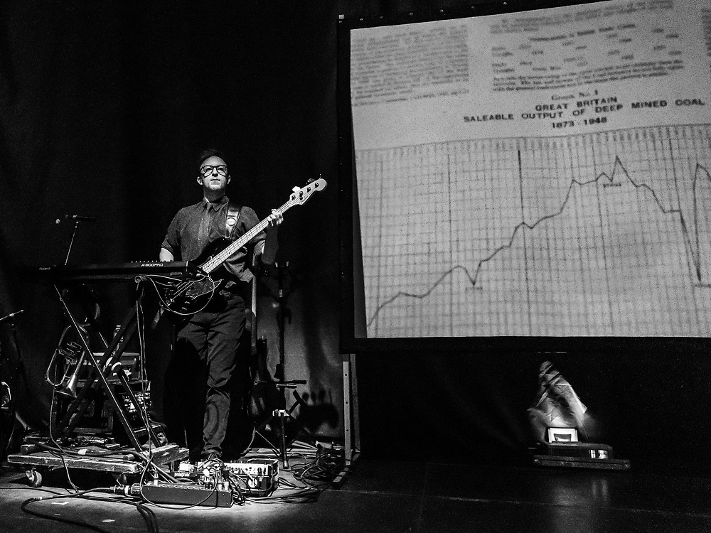 JF Abraham of Public Service Broadcasting supporting Editors at Schlachthof Wiesbaden