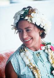 Princess Margaret in Tuvulu in 1978.