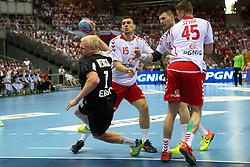 07.06.2014, Ergo Arena, Danzig, POL, IHF WM Qualifikation, Polen vs Deutschland, im Bild Niemcy, Patrick Wiencek (GER), Michal Jurecki (POL), Piotr Grabarczyk (POL), Michal Szyba (POL) // during the IHF world championship qualification match between Poland and Germany at the Ergo Arena in Danzig, Poland on 2014/06/07. EXPA Pictures © 2014, PhotoCredit: EXPA/ Newspix/ Tomasz Jastrzebowski<br /> <br /> *****ATTENTION - for AUT, SLO, CRO, SRB, BIH, MAZ, TUR, SUI, SWE only*****