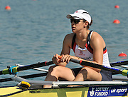 Banyoles, SPAIN, GBR W4X,  Annie VERNON,  at the start of the Race for lanes in the Women's quadruple sculls  FISA World Cup Rd 1. Lake Banyoles  Saturday, 30/05/2009   [Mandatory Credit. Peter Spurrier/Intersport Images]
