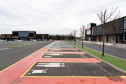 Edinburgh, Scotland, UK. 16 April 2020. Coronavirus lockdown continues in 4th week. Normally busy Ford Kinnaird retail shopping park Is virtually deserted. Iain Masterton/Alamy Live News