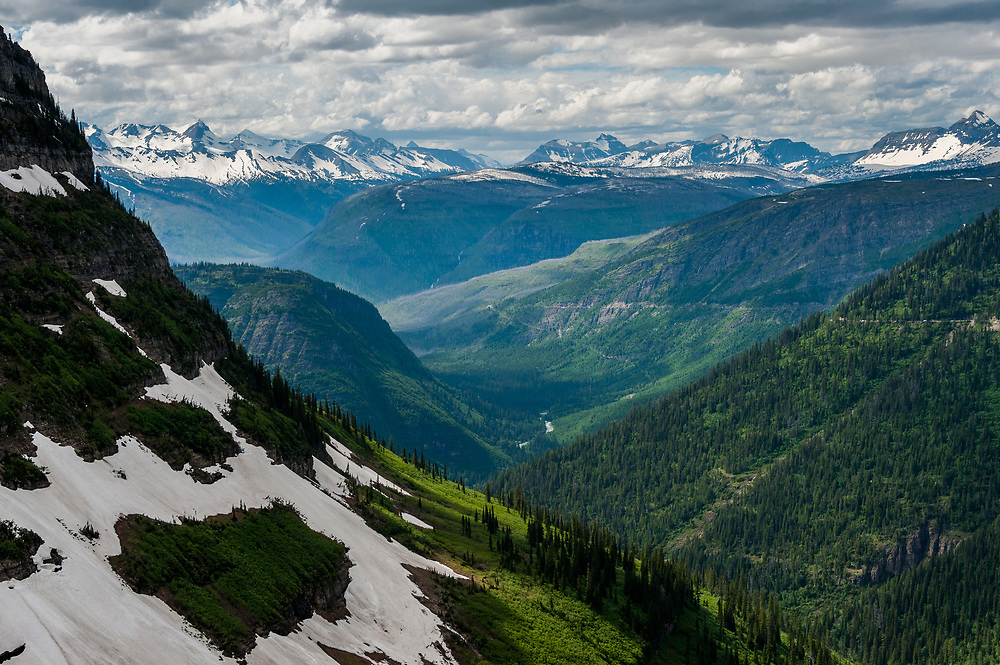 View of Going to the Sun Road and The Loop