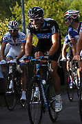 France, October 10 2010: Juan Antonio FLECHA, SKY PRO CYCLING (SKY), climbs the Côte de l'Epan during the 2010 Paris Tours cycle race.  Copyright 2010 Peter Horrell