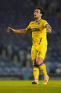 Luke O'Neill of AFC Wimbledon in action during the EFL Sky Bet League 1 match between Portsmouth and AFC Wimbledon at Fratton Park, Portsmouth, England on 19 January 2021.