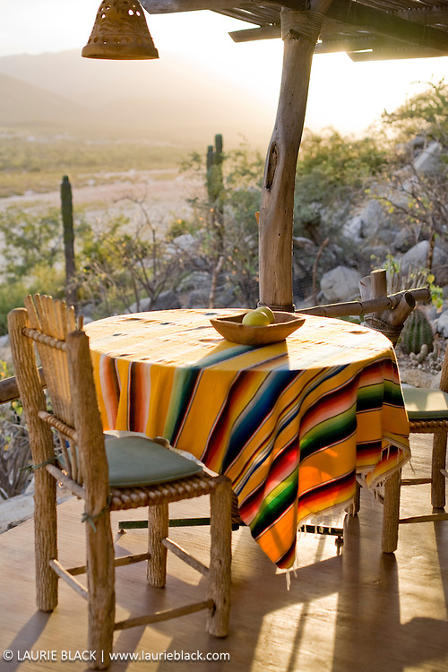Outdoor Mexican patio dining table