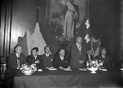 11/10/1956<br /> 10/11/1956<br /> 11 October 1956 <br /> <br /> Dr J Harbison MD, DPH, MPH (standing) Speaking at the Opening of Health Inspectors Association