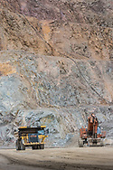 Capstone Mine, operations shot on the lowest level of the main pit.