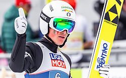 28.02.2019, Seefeld, AUT, FIS Weltmeisterschaften Ski Nordisch, Seefeld 2019, Nordische Kombination, Team Sprung, im Bild Samuel Costa (ITA) // Samuel Costa of Italy during Team Jumping competition for Nordic Combined of FIS Nordic Ski World Championships 2019. Seefeld, Austria on 2019/02/28. EXPA Pictures © 2019, PhotoCredit: EXPA/ JFK