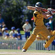 Leah Poulton batting during the match between Australia and Pakistan in the Super 6 stage of the ICC Women's World Cup Cricket tournament at Bankstown Oval, Sydney, Australia on March 16 2009, Australia won the match by 107 runs. Photo Tim Clayton