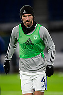 Cardiff City's Sean Morrison (4) during the pre-match warm-up before the EFL Sky Bet Championship match between Cardiff City and Birmingham City at the Cardiff City Stadium, Cardiff, Wales on 16 December 2020.