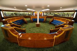 Interior of First Class lounge in new Queen Elizabeth 2  hotel in Dubai, United Arab Emrates