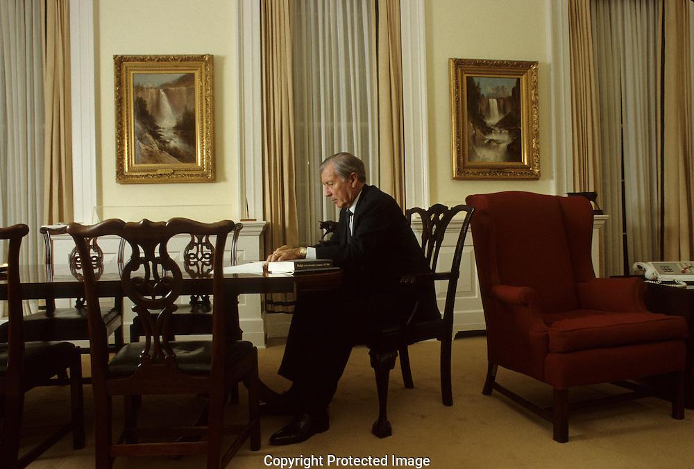 Sectretary of Treasury Don Regan in 1985..Photograph by Dennis Brack bb24