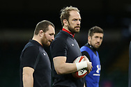 Alun Wyn Jones, the captain of Wales © during the Wales rugby team captains run at the Principality Stadium  in Cardiff , South Wales on Friday 2nd February 2018.  the team are preparing for their opening Natwest 6 Nations 2018 championship match against Scotland tomorrow.   pic by Andrew Orchard