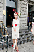 Paula Gannon, Athlone at the Most Stylish Lady event at Hotel Meyrick on ladies day of The Galway Races. Photo:Andrew Downes