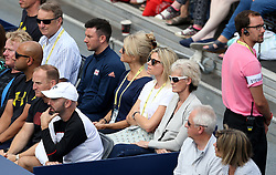 Judy Murray (right) watches the action during day two of the Fever-Tree Championship at the Queens Club, London. PRESS ASSOCIATION Photo. Picture date: Tuesday June 19, 2018. See PA story TENNIS Queens. Photo credit should read: Steven Paston/PA Wire. RESTRICTIONS: Editorial use only, no commercial use without prior permission.