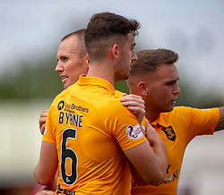 Livingston Kenny Miller cele scoring their first half goal. Livingston 1 v 0 Annan Athletic, Scottish League Cup Group F, played 21/7/2018 at Prestonfield, Linlithgow.