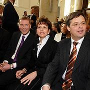 NLD/Naarden/20070406 - Mattheus Passion 2007, burgemeester Peter Rehwinkel, premier Jan Peter Balkenende en partner Bianca Hoogendijk