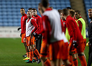 Matt Done of Sheffield Utd prepares to warm up during the English League One match at the Rioch Arena Stadium, Coventry. Picture date: December 15th, 2016. Pic Simon Bellis/Sportimage