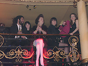 Suzy Menkes. 25th anniversary party and fashion show by Agent Provocateur at the Cafe de Paris, Coventry Street, London W1 on 14th February 2005.ONE TIME USE ONLY - DO NOT ARCHIVE  © Copyright Photograph by Dafydd Jones 66 Stockwell Park Rd. London SW9 0DA Tel 020 7733 0108 www.dafjones.com