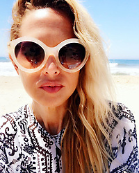 """Rachel Zoe releases a photo on Instagram with the following caption: """"Beach hair don't care #summer2017 \u2600\ufe0f#isuckatselfies \ud83c\udf0aXoRZ"""". Photo Credit: Instagram *** No USA Distribution *** For Editorial Use Only *** Not to be Published in Books or Photo Books ***  Please note: Fees charged by the agency are for the agency's services only, and do not, nor are they intended to, convey to the user any ownership of Copyright or License in the material. The agency does not claim any ownership including but not limited to Copyright or License in the attached material. By publishing this material you expressly agree to indemnify and to hold the agency and its directors, shareholders and employees harmless from any loss, claims, damages, demands, expenses (including legal fees), or any causes of action or allegation against the agency arising out of or connected in any way with publication of the material."""