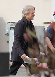 EXCLUSIVE: Michael Douglas is seen on the set of The Kominsky Method in Los Angeles today. This is the first time that the actor has been seen since allegations of sexual harassment were made against him by a former employee named, Susan Braudy. The 73 year-old, Douglas has gone on record to deny the allegations. 30 Jan 2018 Pictured: Michael Douglas. Photo credit: APEX / MEGA TheMegaAgency.com +1 888 505 6342