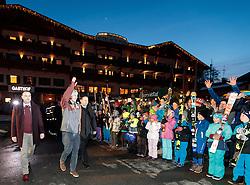 25.02.2017, Fieberbrunn, AUT, FIS Weltmeisterschaften Ski Alpin, St. Moritz 2017, Empfang Feller, im Bild Bürgermeister Dr. Walter Astner, Manuel Feller (AUT), Lanndeshauptmann Stv. Josef Geisler // during the receiving of Manuel Feller after the Alpine Ski Wolrd Championships in St. Moritz in Fieberbrunn, Austria on 2017/02/25. EXPA Pictures © 2017, PhotoCredit: EXPA/ Johann Groder