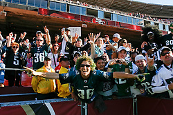 12 Oct 2008:  Philadelphia Eagles Fans celebrate a victory over the San Francisco 49ers after the game against the San Francisco 49ers on October 12th, 2008. The Eagles won 40-26 at Candlestick Park in San Francisco, California. (Photo by Brian Garfinkel) (Photo by Brian Garfinkel)