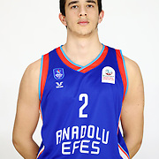 Anadolu Efes's Enes Gul during the 2020-2021 Garanti BBVA BGL Media Day at the Anadolu Efes Sports Hall on February 02, 2021 in İstanbul, Turkey. Photo by Aykut AKICI/TURKPIX