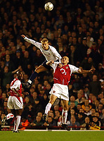 Fotball. Premier League. 16.11.2002.<br /> Arsenal v Tottenham.<br /> Steffen Iversen, Tottenham.<br /> Pascal Cygan, Arsenal.<br /> Foto: Javier Garcia, Digitalsport