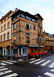 An old building housing a cafe in the Rue Henri de Gorsse, Toulouse, FRance<br /> <br /> (c) Andrew Wilson | Edinburgh Elite media