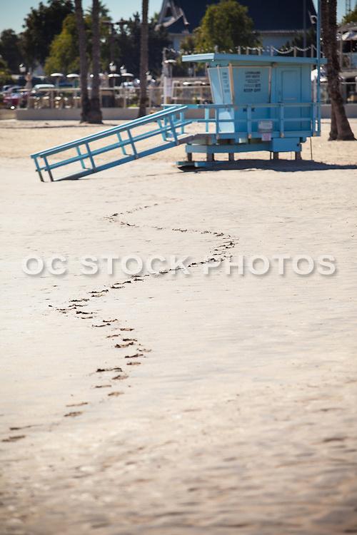 Lifeguard Tower at the Beach in the Marina at Marina Del Rey