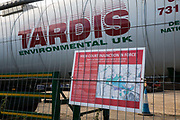 A High Court injunction notice is displayed on fencing at the site of a ventilation shaft for the Chiltern Tunnel on the HS2 high-speed rail link on 18th July 2020 in Chalfont St Giles, United Kingdom. The Department for Transport approved the issuing of Notices to Proceed by HS2 Ltd to the four Main Works Civils Contractors MWCC working on the £106bn rail project in April 2020.