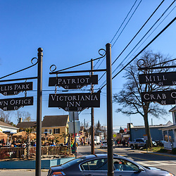 St. Michaels, MD, USA - March 30, 2013: Street signs in St Michaels, Maryland/