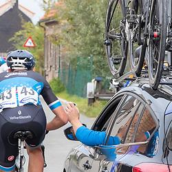 Philippine (NED) CYCLING OCTBER 17<br /> Omloop van de Braakman<br /> Volker Wessels aan de wagen