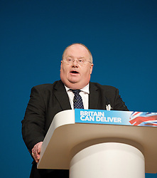 Rt Hon Eric Pickles MP, Secretary of State of Communities and Local Government during the Conservative Party Conference, ICC, Birmingham, Great Britain, October 8, 2012. Photo by Elliott Franks / i-Images.