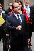 """François Hollande brengt een officieel bezoek aan Nederland. Hollande is in Nederland om de handelsbetrekkingen aan te halen.<br /> <br /> François Hollande brings an official visit to the Netherlands. Hollande is in the Netherlands for """"better""""Trading relations<br /> <br /> Op de foto/ On the photo:"""