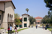 Johnson Student Center (L) and Thorne Hall (R). Occidental College is where Barack Obama attended from fall 1979 through spring 1981 before  transferring to Columbia University. Highland Park, Los Angeles, California, USA