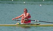Lucerne, Switzerland. 1995 FISA WC III, Lake Rottsee, Lucerne,<br /> CAN M1X Derek PORTER.<br /> [Mandatory Credit. Peter SPURRIER/Intersport Images]<br /> <br /> Image scanned from Colour Negative