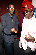 Chris Rock and Fab 5 Freddy at An evening with Dave Chappelle for Kevin Powell for Congress held at Eugene's on July 9, 2008..Kevin Powell runs as a Democratic Candidate for Congress in Brooklyn's 10th Congressional District