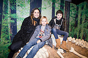 NO FEE PICTURES<br /> 17/12/17 Alison Canavan and son James, age 7 and Luca Creaner, 9 pictured at the prehistoric preview and official opening of Dinosaurs Around The World now open at the the Ambassador Theatre  for a limited time only. Embark on a globetrotting expedition around the world to discover the Age of Reptiles! With advanced animatronics, a multi-layered narrative, fossils, authentic casts, cutting-edge research and immersive design elements you'll experience the Age of Reptiles as it comes to life!  Dinosaurs Around the World is open daily to the public from 10 a.m. with last entry at 6pm for a limited time only. Tickets available from Ticketmaster.ie and from the Ambassador Theatre Box Office now. Visit www.mcd.ie for more. Pictures: Arthur Carron