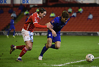 Football - 2020 / 2021 Emirates FA Cup - Round Five - Barnsley vs Chelsea - Oakwell Stadium<br /> <br /> Barnsley's Callum Brittain battles for possession with Chelsea's Marcos Alonso.<br /> <br /> COLORSPORT/ASHLEY WESTERN