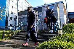 Daniel Edozie of Bristol Flyers arrives at London Lions - Photo mandatory by-line: Robbie Stephenson/JMP - 10/04/2019 - BASKETBALL - UEL Sports Dock - London, England - London Lions v Bristol Flyers - British Basketball League Championship