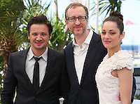 Actor Jeremy Renner, Director James Gray, Actress Marion Cotillard at The Immigrant Film Photocall Cannes Film Festival On Friday 24th May May 2013