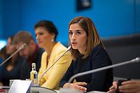 DEU, Deutschland, Germany, Berlin, 25.09.2018: Die Journalistin Mesale Tolu zu Gast bei einer Fraktionssitzung von DIE LINKE.