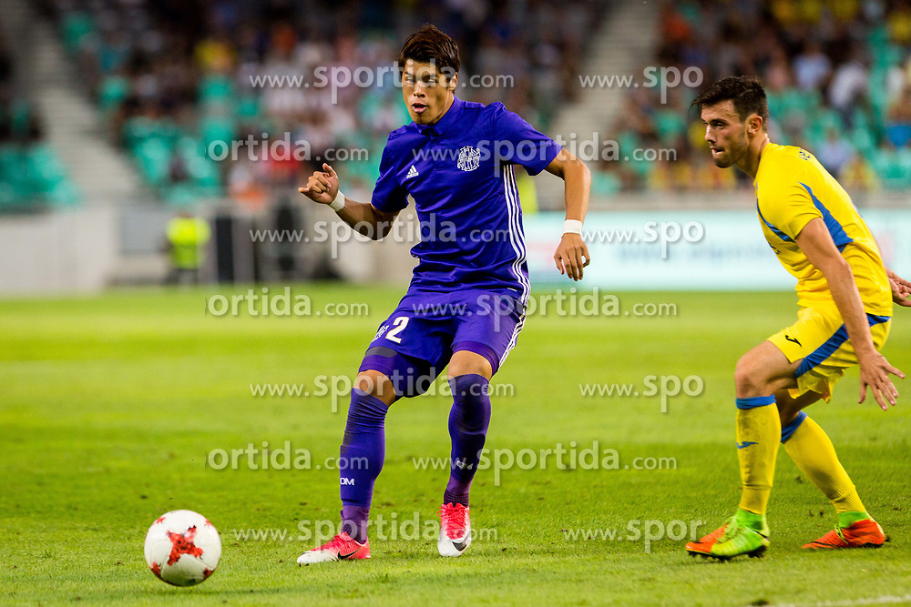 Hiroki Sakai of Olympic Marseille during football match between NK Domzale and Olympique de Marseille in First game of UEFA Europa League playoff round, on August 17, 2017 in SRC Stozice, Ljubljana, Slovenia. Photo by Ziga Zupan / Sportida