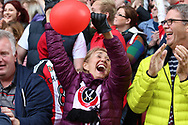 Sheffield United fans during the English League One match at Bramall Lane Stadium, Sheffield. Picture date: April 30th, 2017. Pic credit should read: Jamie Tyerman/Sportimage