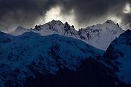 Meili Snow Mountain Kawagebo/Kawagarbo peaks, 6740 m, a Sacred mountain for Tibetan Buddhists, yet unclimbed, Yunnan, China