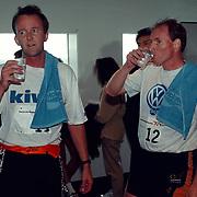 NK traplopen 1997 Rotterdam finish, roeiers Nico Rienks en