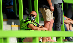 Forest Green Rovers fans watch the from the stands socially distanced - Mandatory by-line: Nizaam Jones/JMP - 19/09/2020 - FOOTBALL - New Lawn Stadium - Nailsworth, England - Forest Green Rovers v Bradford City - Sky Bet League Two